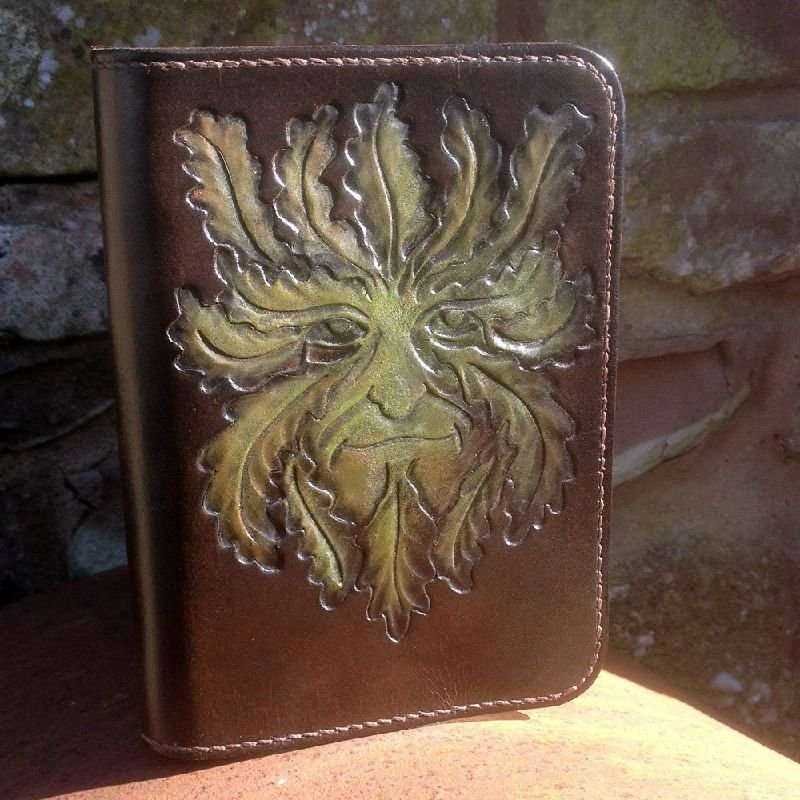 Hand Carved Journal Cover